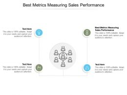 Best Metrics Measuring Sales Performance Ppt Powerpoint Presentation Infographics Clipart Cpb