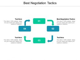 Best Negotiation Tactics Ppt Powerpoint Presentation Gallery Graphics Download Cpb
