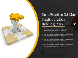 Best Practice 3d Man Finds Solution Holding Puzzle Piece