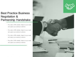 Best Practice Business Negotiation And Partnership Handshake