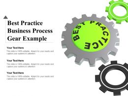 Best Practice Business Process Gear Example