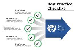 Best Practice Checklist