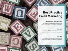 Best Practice Email Marketing Ppt Powerpoint Presentation Icon Summary Cpb