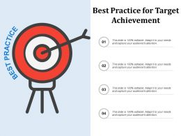 Best Practice For Target Achievement