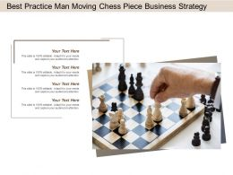 Best Practice Man Moving Chess Piece Business Strategy