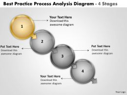 Best Practice Process Analysis Diagram 4 Stages Work Flow Chart Powerpoint Slides