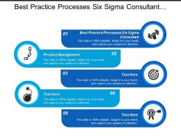 Best Practice Processes Six Sigma Consultant Product Management Cpb