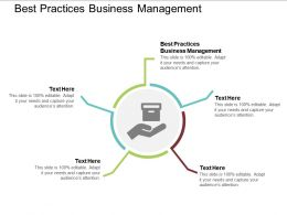 Best Practices Business Management Ppt Powerpoint Presentation File Vector Cpb