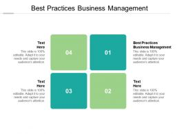 Best Practices Business Management Ppt Powerpoint Presentation Shapes Cpb