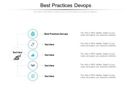 Best Practices Devops Ppt Powerpoint Presentation Styles Show Cpb