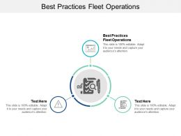 Best Practices Fleet Operations Ppt Powerpoint Presentation Model Grid Cpb