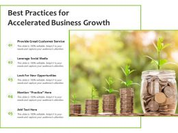 Best Practices For Accelerated Business Growth