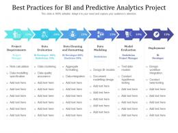 Best Practices For BI And Predictive Analytics Project