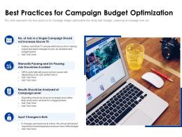 Best Practices For Campaign Budget Optimization