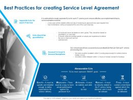 Best Practices For Creating Service Level Agreement Ppt Powerpoint Presentation Icon Graphics