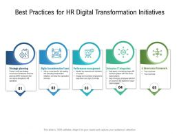 Best Practices For HR Digital Transformation Initiatives