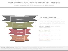 Best Practices For Marketing Funnel Ppt Examples