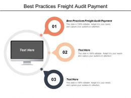 Best Practices Freight Audit Payment Ppt Powerpoint Presentation Gallery Demonstration Cpb