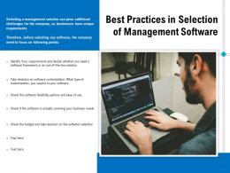 Best Practices In Selection Of Management Software
