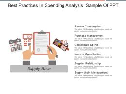 Best Practices In Spending Analysis Sample Of Ppt
