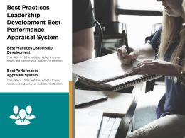Best Practices Leadership Development Best Performance Appraisal System Cpb