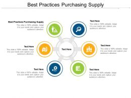 Best Practices Purchasing Supply Ppt Powerpoint Presentation Show Model Cpb