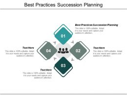 Best Practices Succession Planning Ppt Powerpoint Presentation Infographics Backgrounds Cpb
