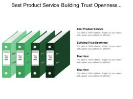 Best Product Service Building Trust Openness Compelling Value Proposition
