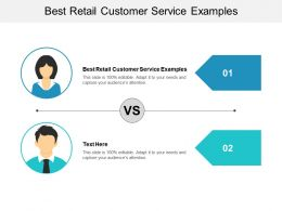 Best Retail Customer Service Examples Ppt Powerpoint Presentation File Ideas Cpb