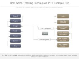 Best Sales Tracking Techniques Ppt Example File