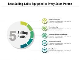 Best Selling Skills Equipped In Every Sales Person