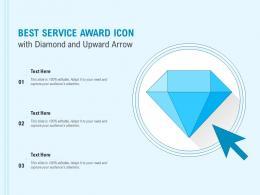 Best Service Award Icon With Diamond And Upward Arrow