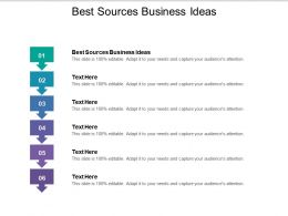Best Sources Business Ideas Ppt Powerpoint Presentation Outline Professional Cpb