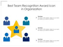 Best Team Recognition Award Icon In Organization