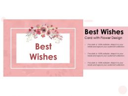 Best Wishes Card With Flower Design