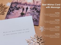 Best Wishes Card With Message