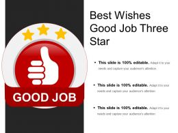 Best Wishes Good Job Three Star