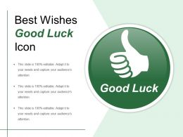 Best Wishes Good Luck Icon