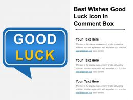 Best Wishes Good Luck Icon In Comment Box