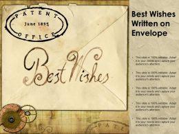 Best Wishes Written On Envelope