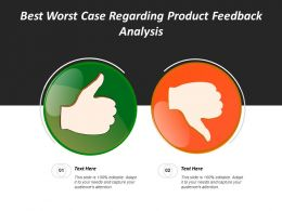 Best Worst Case Regarding Product Feedback Analysis