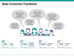 Beta Customer Feedback Example Of Ppt