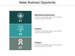 Better Business Opportunity Ppt Powerpoint Presentation File Graphics Cpb