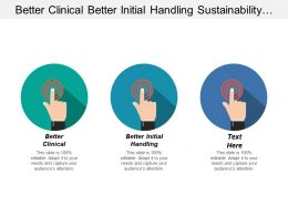 Better Clinical Better Initial Handling Sustainability Climate Change