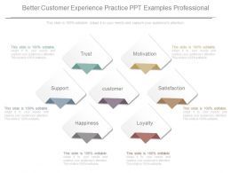 Better Customer Experience Practice Ppt Examples Professional