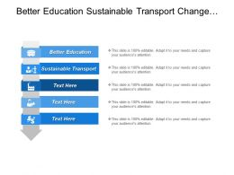 Better Education Sustainable Transport Change Intensifying Research Innovation