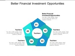 Better Financial Investment Opportunities Ppt Powerpoint Presentation Layouts Cpb