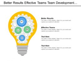 Better Results Effective Teams Team Development Diagnosis Issues