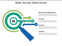Better Security Global Events Ppt Powerpoint Presentation Pictures Information Cpb