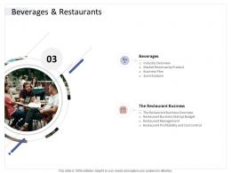 Beverages And Restaurants Hospitality Industry Business Plan Ppt Mockup